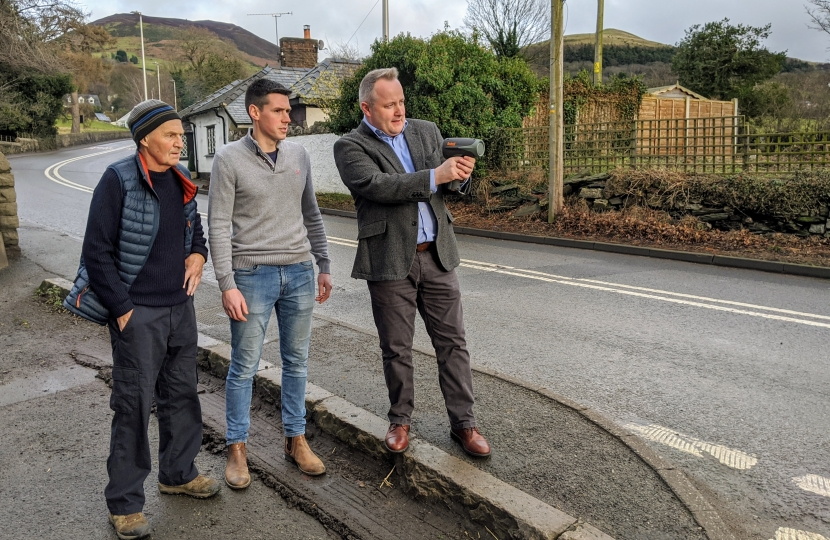 AM backs calls for traffic calming measures in Denbighshire Village
